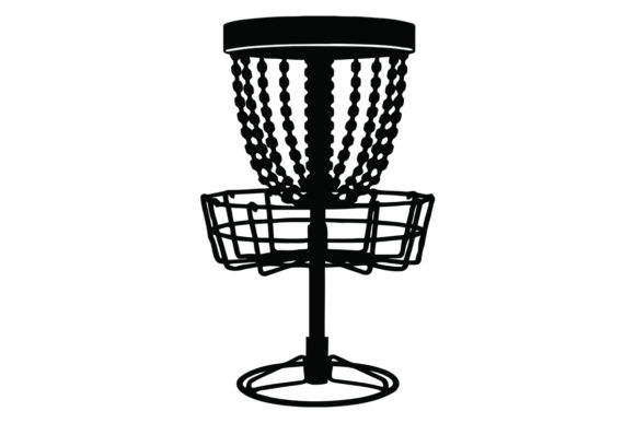 Download Free Disc Golf Basket Graphic By Creativeshohor Creative Fabrica for Cricut Explore, Silhouette and other cutting machines.