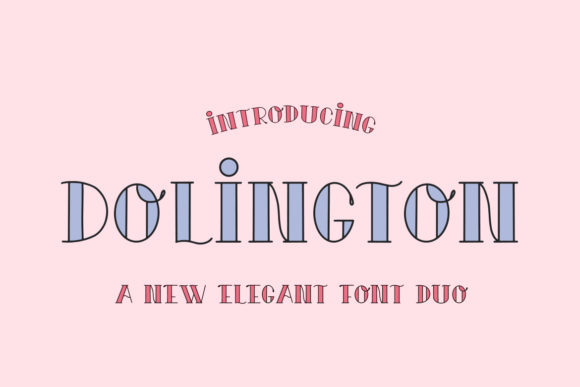 Download Free Dolington Font By Salt Pepper Designs Creative Fabrica for Cricut Explore, Silhouette and other cutting machines.