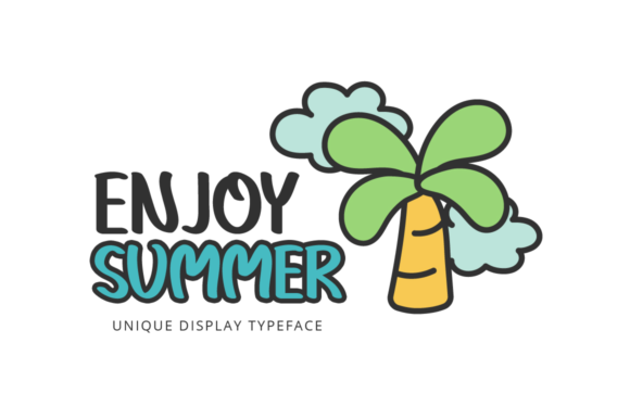 Print on Demand: Enjoy Summer Display Font By Seemly Fonts