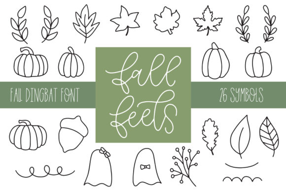 Print on Demand: Fall Feels Dingbats Font By jordynalisondesigns - Image 1