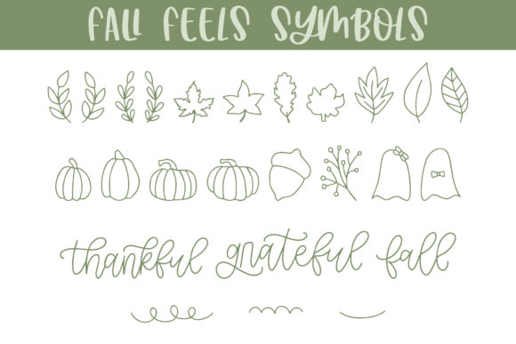 Print on Demand: Fall Feels Dingbats Font By jordynalisondesigns - Image 5