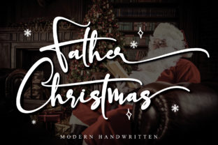 Print on Demand: Father Christmas Script & Handwritten Font By thomasaradea
