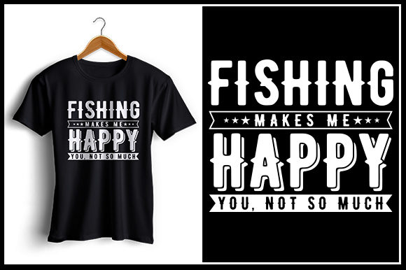 Print on Demand: Fishing - T-Shirt Design Graphic Crafts By Zaibbb