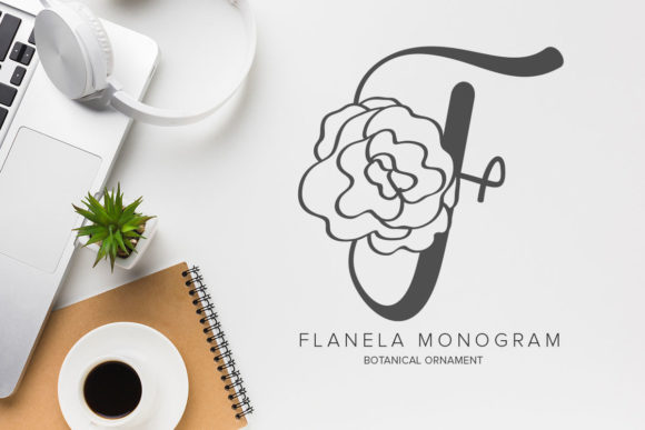 Print on Demand: Flanela Monogram Decorative Font By Monogram Lovers