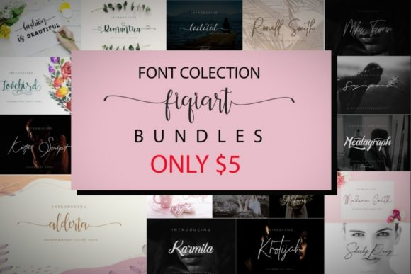 Print on Demand: Font Collection Bundle Vol 1  By fiqiart09