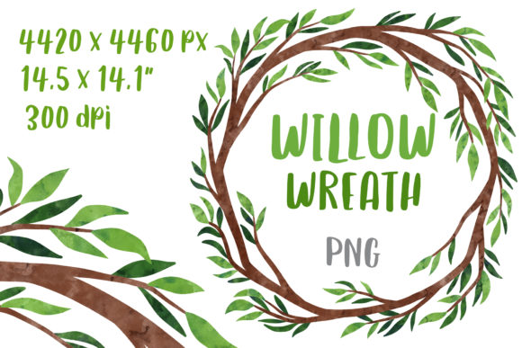 Download Free Forest Wedding Wreath Clipart Frame Graphic By Greenwolf Art for Cricut Explore, Silhouette and other cutting machines.