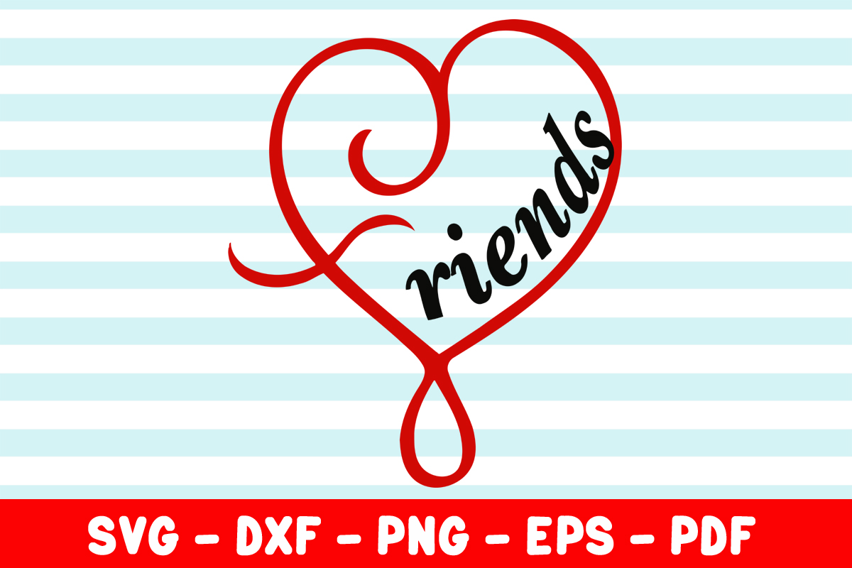 Download Free Friends Heart Graphic By Creativeshohor Creative Fabrica for Cricut Explore, Silhouette and other cutting machines.