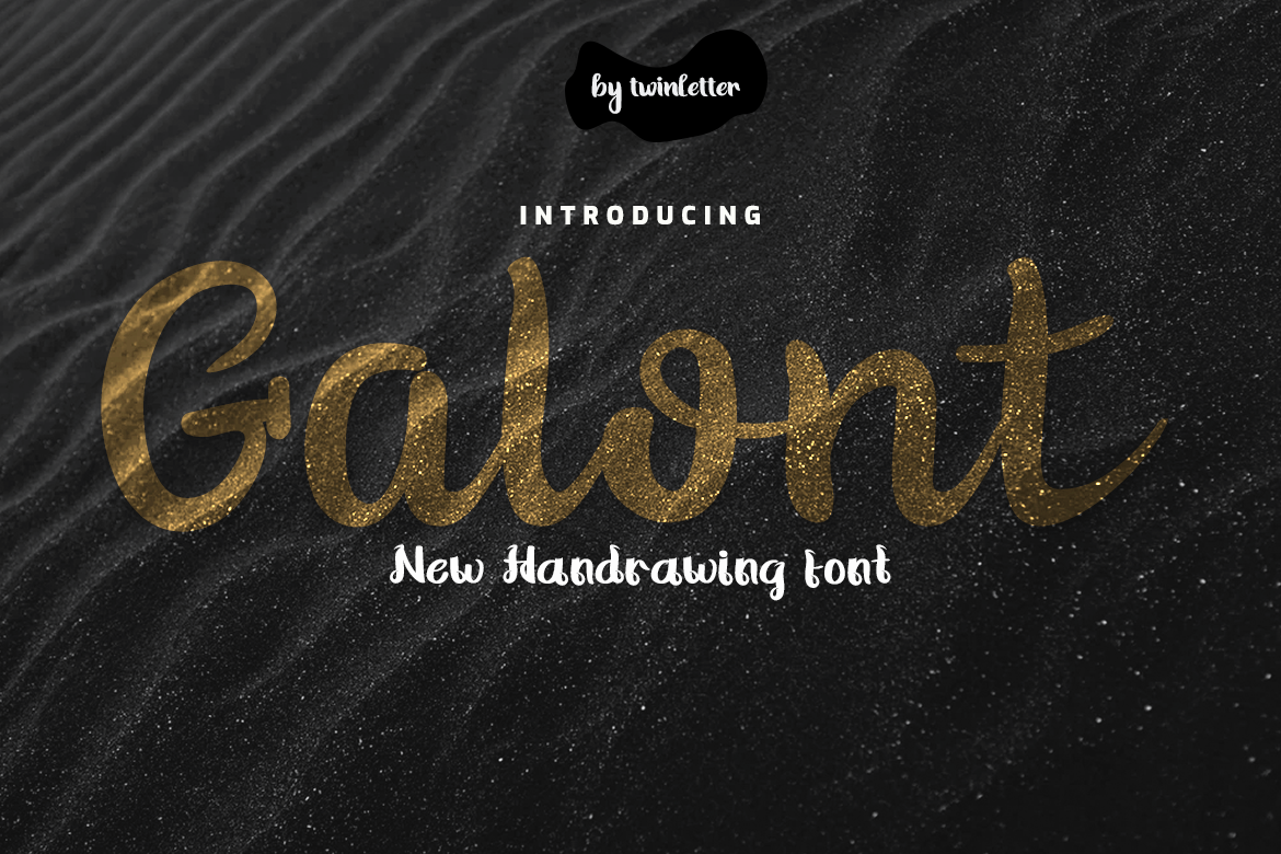 Download Free Galont Font By Twinletter Creative Fabrica for Cricut Explore, Silhouette and other cutting machines.