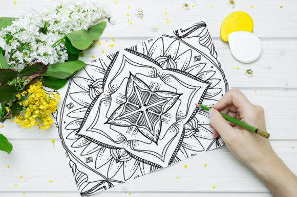 Print on Demand: Geometric Coloring Poge for KDP Graphic Coloring Pages & Books Adults By stanosh - Image 2