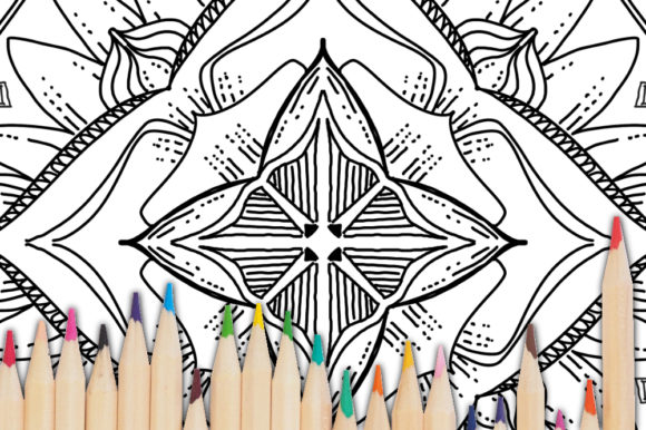 Print on Demand: Geometric Coloring Poge for KDP Graphic Coloring Pages & Books Adults By stanosh - Image 3