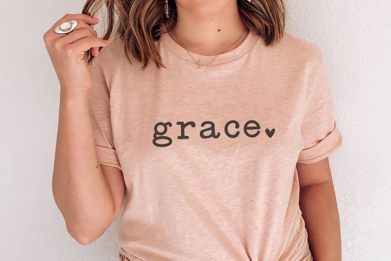 Download Free Grace Graphic By Thekccollectiveco Creative Fabrica for Cricut Explore, Silhouette and other cutting machines.
