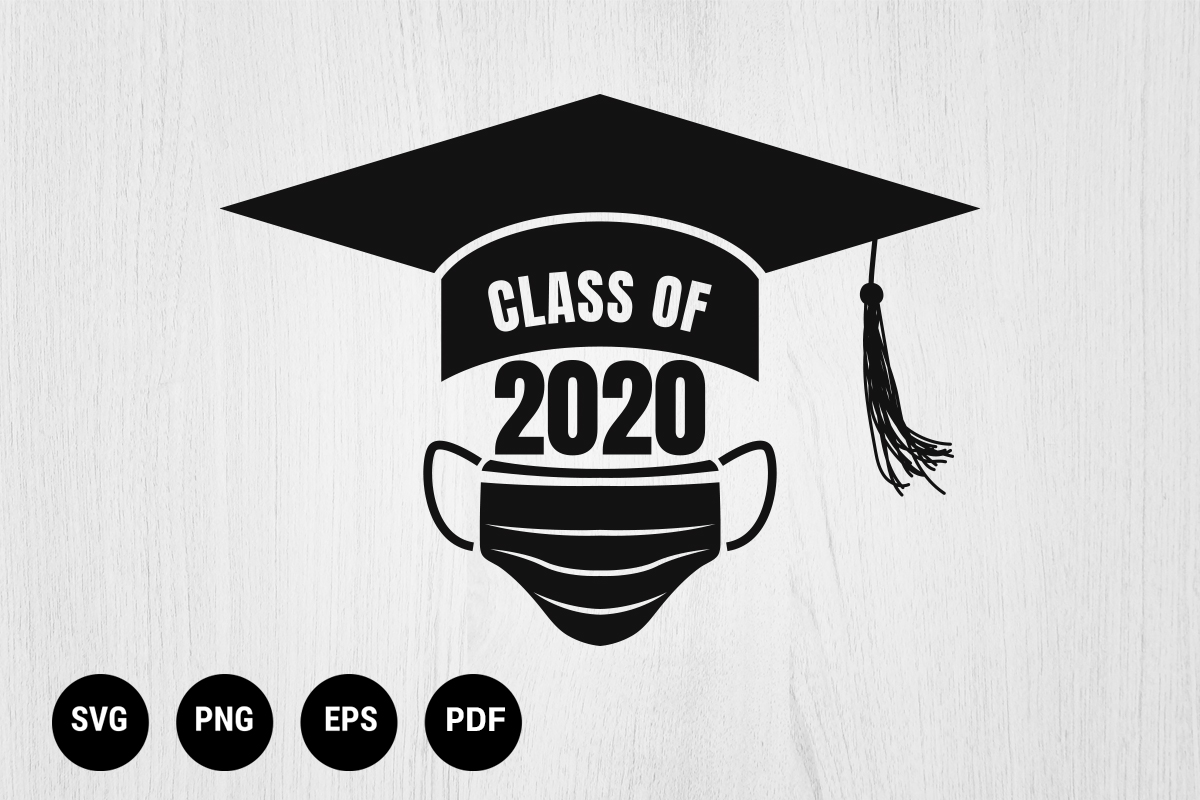 Download Free Graduation Class 2020 Social Distancing Graphic By 99 Siam for Cricut Explore, Silhouette and other cutting machines.