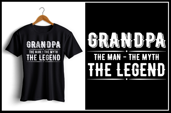 Download Free Grandpa T Shirt Design Graphic By Zaibbb Creative Fabrica for Cricut Explore, Silhouette and other cutting machines.