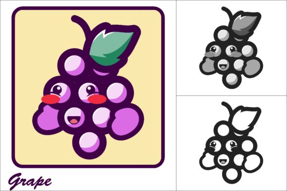 Download Free Grape Vector Illustration Icon Graphic By Novieart 99 Creative for Cricut Explore, Silhouette and other cutting machines.