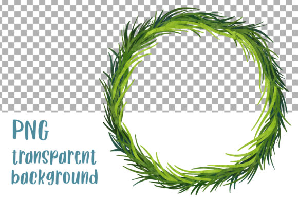 Download Free Grass Wreath Greenery Clipart File Graphic By Greenwolf Art for Cricut Explore, Silhouette and other cutting machines.