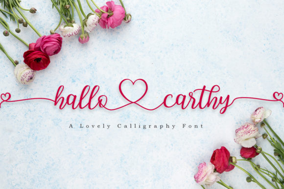 Print on Demand: Hallo Carthy Script & Handwritten Font By Madatype Studio