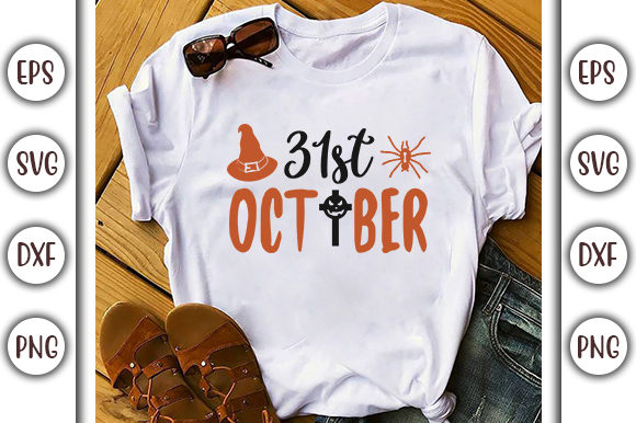 Download Free Halloween Quotes Design 31st Oktober Graphic By Graphicsbooth for Cricut Explore, Silhouette and other cutting machines.