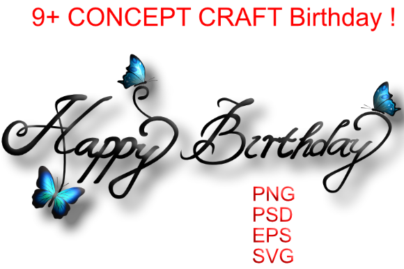 Download Free Happy Birthday Craft Lattering Graphic By Nabila Studio for Cricut Explore, Silhouette and other cutting machines.