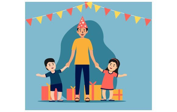 Download Free Happy Father S Day Happy Birthday Dad Graphic By Redvy for Cricut Explore, Silhouette and other cutting machines.