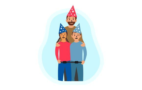 Download Free Happy Father Day Birthday Flat Vector Graphic By Redvy Creative for Cricut Explore, Silhouette and other cutting machines.