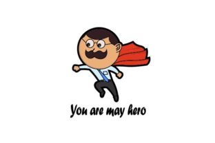 Download Free Happy Father S Day You Are My Hero Graphic By Firdausm601 for Cricut Explore, Silhouette and other cutting machines.