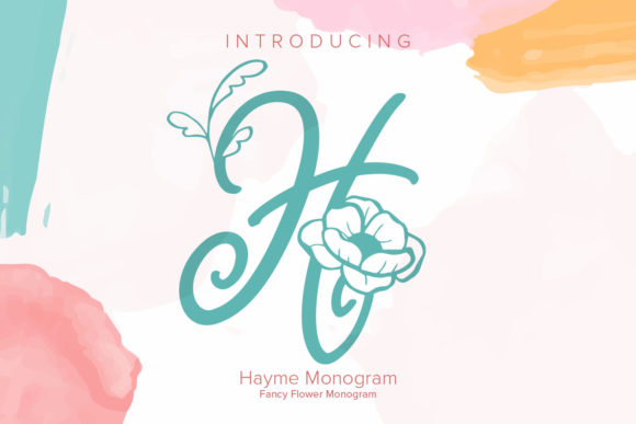 Print on Demand: Hayme Monogram Decorative Font By Monogram Lovers