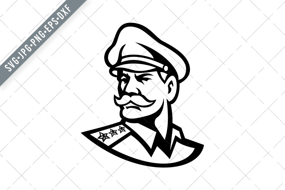 Download Free Head Of American General Graphic By Patrimonio Creative Fabrica for Cricut Explore, Silhouette and other cutting machines.