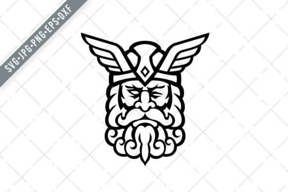 Download Free Head Of Odin Norse God Front Graphic By Patrimonio Creative for Cricut Explore, Silhouette and other cutting machines.