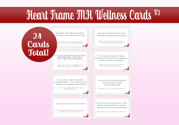 Download Free Hearts Frame Mh Wellness Cards Graphic By Capeairforce SVG Cut Files