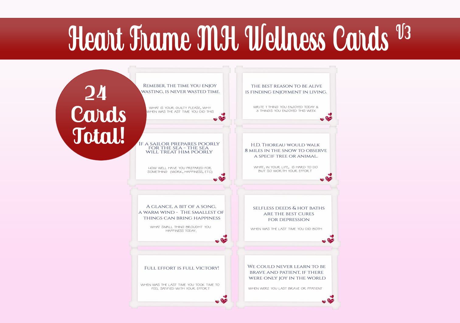 Download Free Hearts Frame Mh Wellness Cards Graphic By Capeairforce for Cricut Explore, Silhouette and other cutting machines.