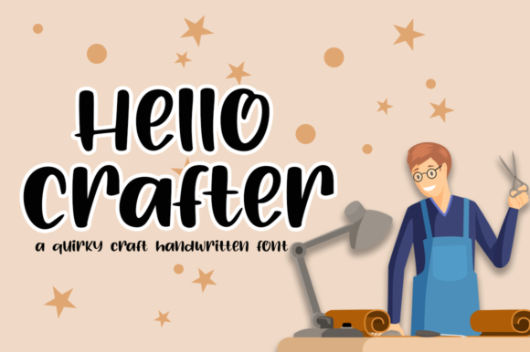 Print on Demand: Hello Crafter Script & Handwritten Font By Haksen