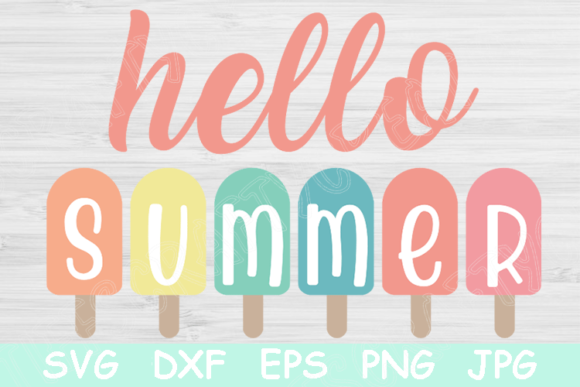 Download Free Hello Summer Popsicle Graphic By Tiffscraftycreations Creative Fabrica for Cricut Explore, Silhouette and other cutting machines.
