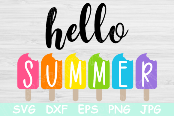 Download Free Hello Summer Ice Cream Graphic By Tiffscraftycreations for Cricut Explore, Silhouette and other cutting machines.