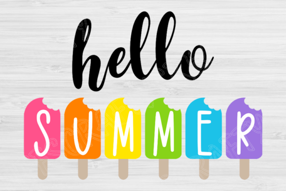 Download Free Hello Summer Quote Graphic By Tiffscraftycreations Creative for Cricut Explore, Silhouette and other cutting machines.