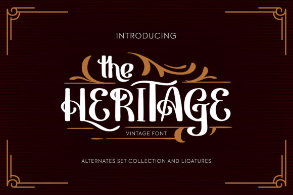 Print on Demand: Heritage Display Font By Vunira