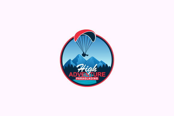Download Free High Adventure Paragliding Logo Design Graphic By Burhan Bn006 for Cricut Explore, Silhouette and other cutting machines.