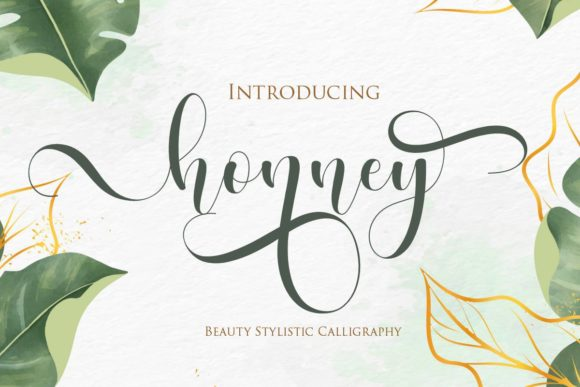 Print on Demand: Honney Script & Handwritten Font By Gilar Studio