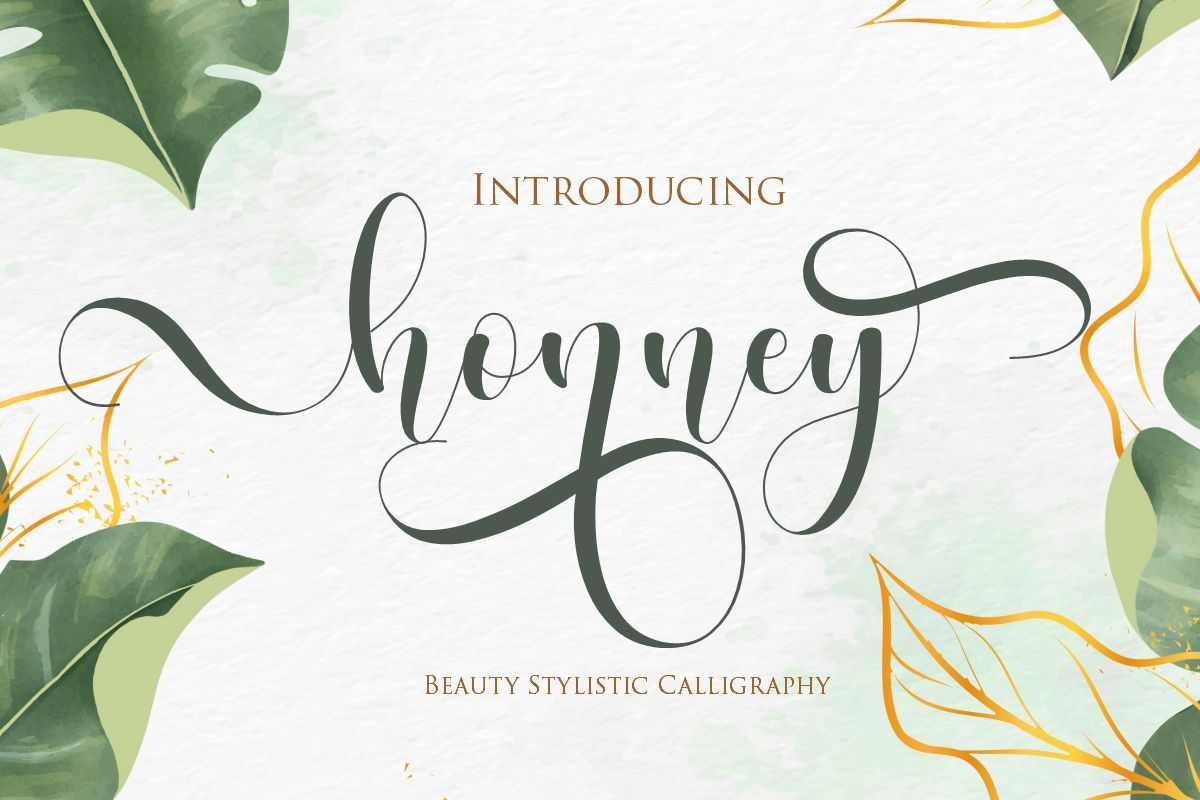 Download Free Honney Font By Gilar Studio Creative Fabrica for Cricut Explore, Silhouette and other cutting machines.