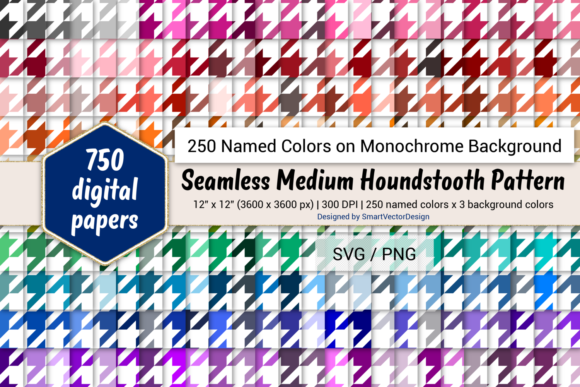 Seamless Large Checkered Paper 250 Colors Graphic By