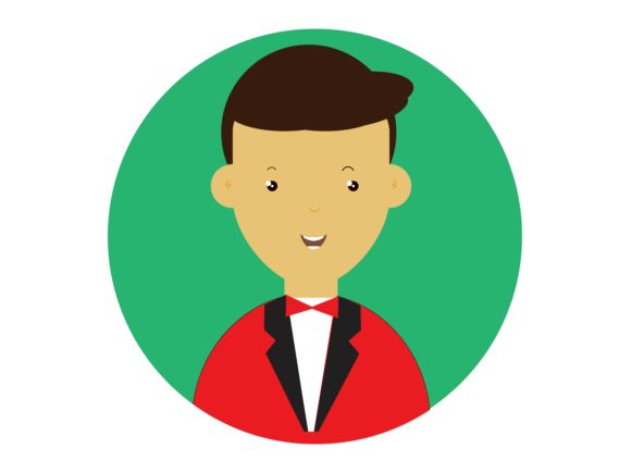 Download Free Icon Character Men Wear Suits Green Graphic By Vectorceratops for Cricut Explore, Silhouette and other cutting machines.