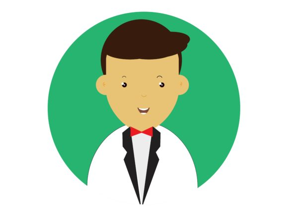 Download Free Icon Character Men Wear Suits Red Tie Graphic By Vectorceratops for Cricut Explore, Silhouette and other cutting machines.