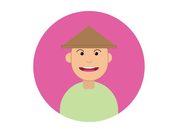 Download Free Icon Character The Farmer Male Pink Graphic By Vectorceratops for Cricut Explore, Silhouette and other cutting machines.