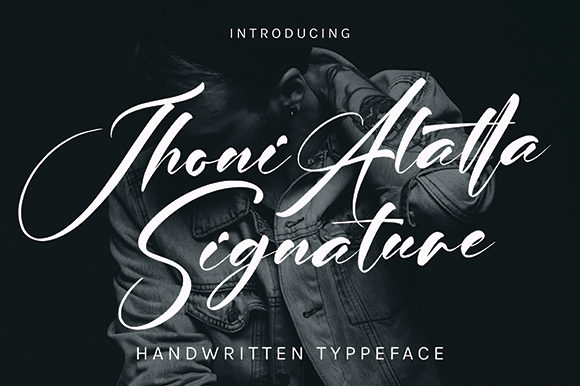 Print on Demand: Jhoni Alatta Script & Handwritten Font By missinklab