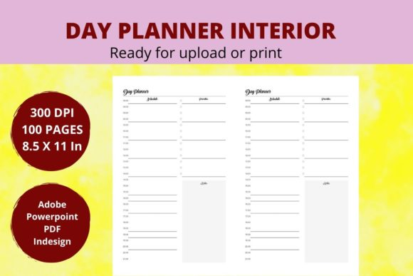 Print on Demand: KDP Day Planner Graphic KDP Interiors By Creative arts