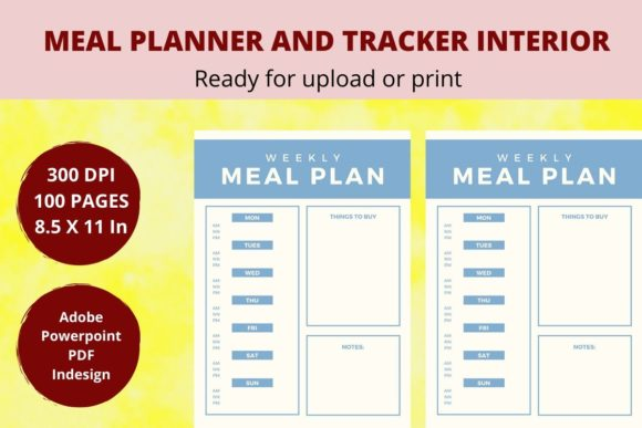 Print on Demand: KDP Meal Planner Graphic KDP Interiors By CREATILORY