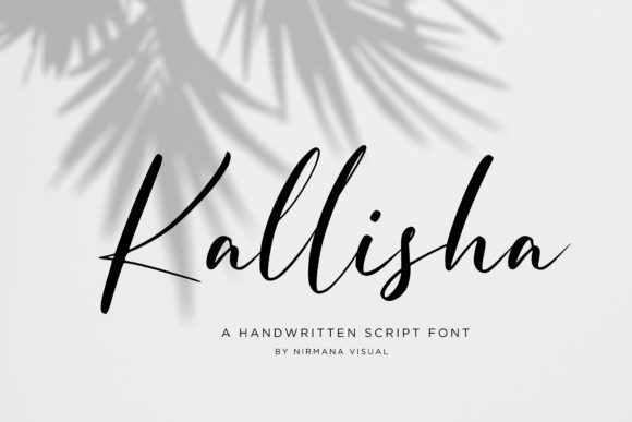 Print on Demand: Kallisha Script & Handwritten Font By Sigit Dwipa