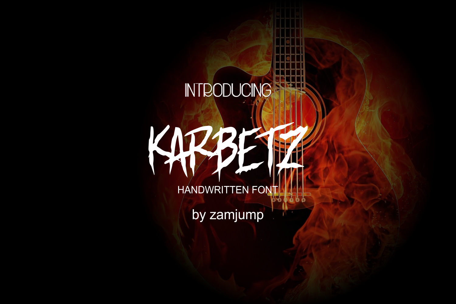 Download Free Karbetz Font By Zamjump Creative Fabrica for Cricut Explore, Silhouette and other cutting machines.