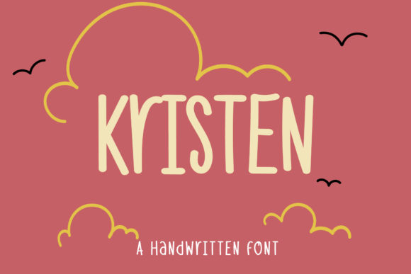 Print on Demand: Kristen Script & Handwritten Font By Wanida Toffy