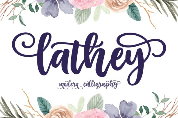 Print on Demand: Lathey Script & Handwritten Font By Keithzo (7NTypes) - Image 1