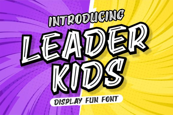 Print on Demand: Leader Kids Display Font By awansenja.type